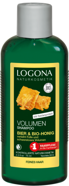 LOGONA Kl-Gr. Volumen Shampoo Bier & Bio-Honig 75ml