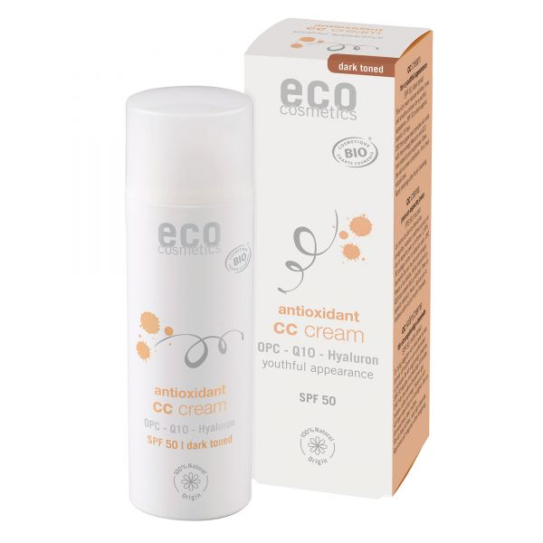 ECO CC Creme getönt LSF 50 dunkel, 50ml NEU!