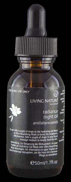 KABINETT Living Nature RADIANCE NIGHT OIL: Antifaltenrosenöl für Kabine, 50ml
