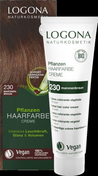 LOGONA Planzen-Haarfarbe Creme 230 maronenbraun, 150ml