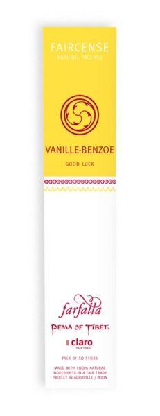FARFALLA Vanille/Benzoe / Good Luck, Faircense Räucherstäbchen
