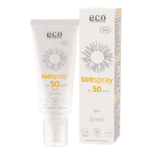 ECO Sonnenspray LSF 50 getönt Q10 100 ml