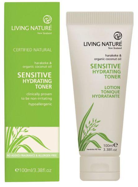 Living Nature SENSITIVE HYDRATING TONER: Sensitives Feuchtigkeitsgel, 100ml