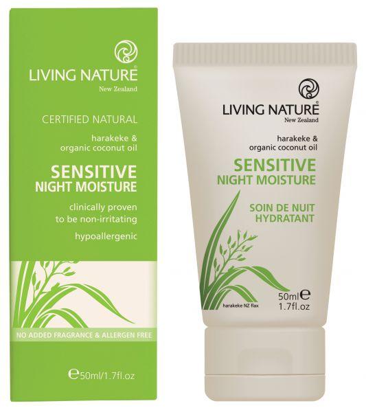 Living Nature SENSITIVE NIGHT MOISTURE: Sensitive Nachtcreme, 50ml