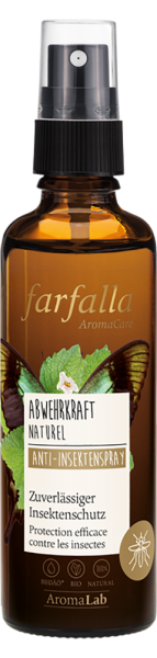 Farfalla Abwehrkraft, Naturel Anti-Insektenspray, 75ml